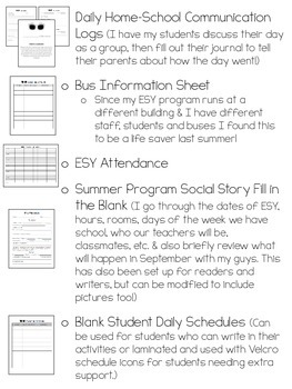 Summer Program Resources for Autism/Special Education