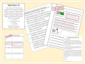 School Break Resource for Special Education