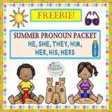 Freebie! SUMMER PRONOUNS: HE, SHE, THEY, HIM, HER, HIS, HERS