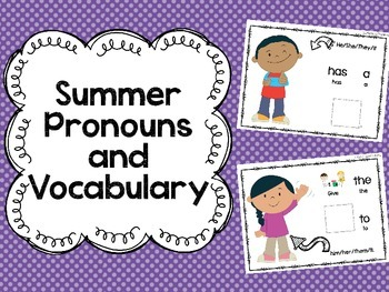 Summer Pronouns and Vocabulary