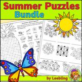 Summer Puzzle Bundle – End of Year Activities – Crosswords