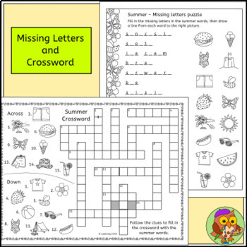 Summer Puzzles - Fun End of Year Activities