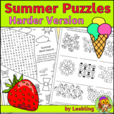 Summer Puzzles, Harder Version – End of Year Activities, C