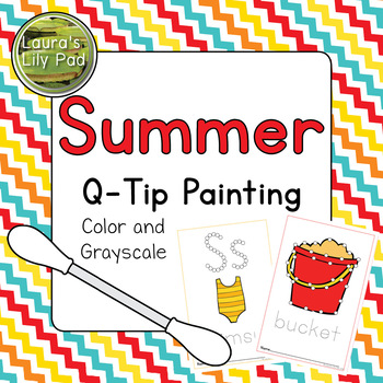 Summer Q-tip Painting
