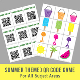 FREE Summer QR Code Game For All Subject Areas