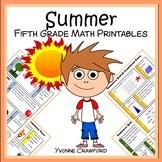 Summer Review No Prep Common Core Math (5th grade)