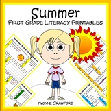 Summer Review No Prep Common Core Literacy (1st grade)