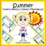 Summer Review No Prep Common Core Literacy (4th grade)