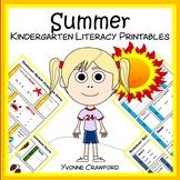 Summer Review No Prep Common Core Literacy (Kindergarten)