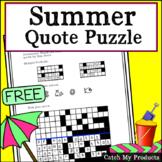 Freebees Printable Summer Activity Worksheet