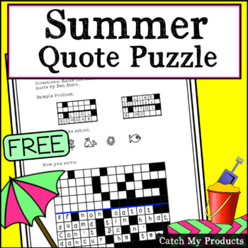 Summer Quote Puzzle to Provide a Vacation Challenge