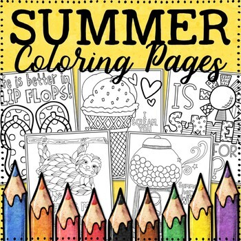Summer Coloring Pages |  20 Fun, Creative Designs