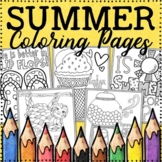 Distance Learning | Summer Coloring Pages |  20 Fun, Creat