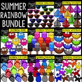 Summer Rainbow Bundle: Summer Clipart {Creative Clips Clipart}