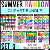 Summer Rainbow Clipart Bundle Set 3