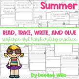 Summer Read, Trace, Glue, and Draw