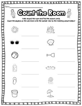 Summer Read, Write, and Count the Room {Literacy and Math} {CCSS}