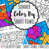 Summer Color By Code Phonics Short Vowels
