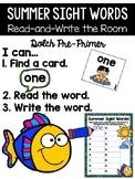 Summer Read and Write the Room {Kindergarten}