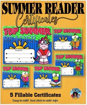 Summer Reader Certificates