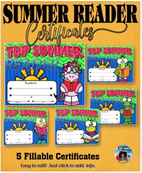 Summer Reader Certificates