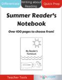 Summer Reader's Notebook (Differentiated Summer Reading Ac