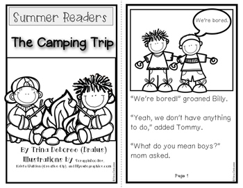 Summer Readers: The Camping Trip for Transitional Readers {Black and White}