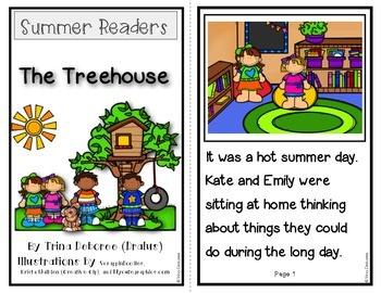 Summer Readers: The Treehouse {Emergent Reader}