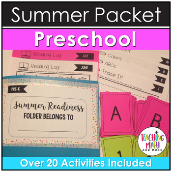 Summer Readiness NO PREP Preschool Packet
