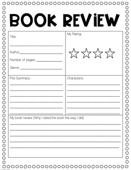 Summer Reading Book Report Templates