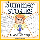 Summer Close Reading Passages - Stories and Writing Activities