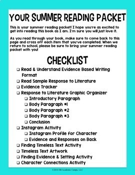 reading activities for middle school pdf