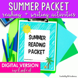 Summer Reading and Summer Writing Packet for Middle School