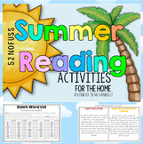 Summer Reading Activities at Home