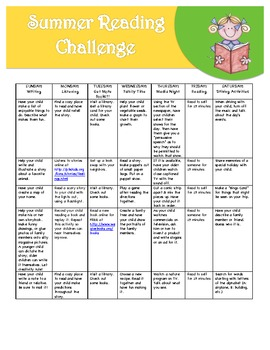 Summer Reading Activity Calendar1