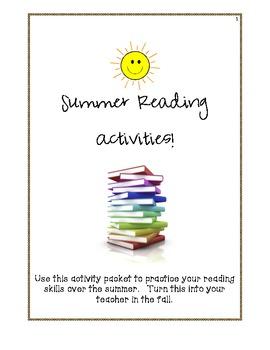 Summer Reading Activities:  Grades 3-5
