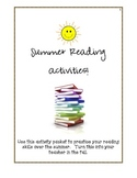 Summer Reading Activities:  Grades 3-5