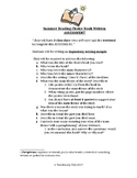 Summer Reading Assessment Expository Writing Sample
