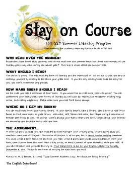 Summer Reading Assignment Handout
