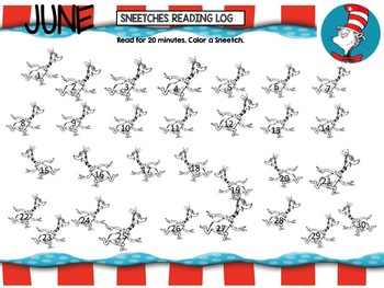 Summer Reading Audio Books Bundle , Goal Chart, and Activities with Dr. Seuss