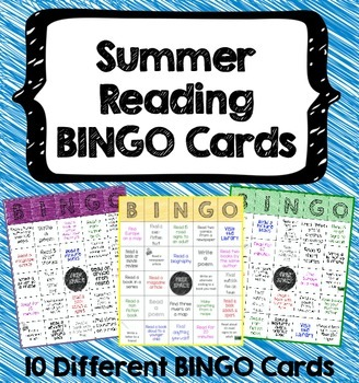 Summer Reading BINGO Cards