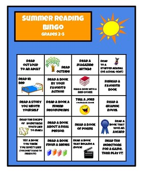 Summer Reading Bingo Boards