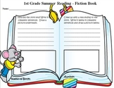 Summer Reading Book Report Grade 1