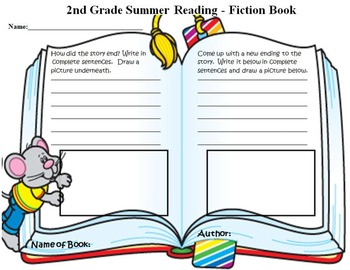 Summer Reading Book Report Grade 2