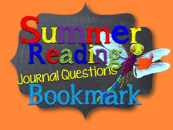 SUMMER READING BOOKMARK: GUIDED READING JOURNAL QUESTIONS