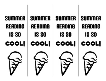 Summer Reading Printable Bookmarks - Color & BW