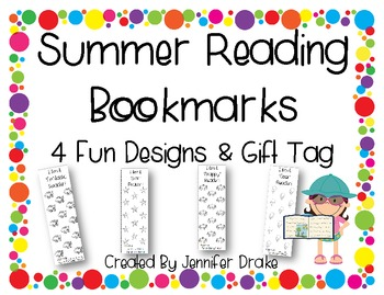 Summer Reading Bookmarks ~4 Designs~ PLUS Gift Tag!