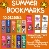 Summer Themed Reading Bookmarks Melonheadz Clip Art Ink Friendly