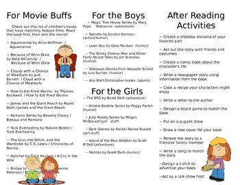 Summer Reading Brochure for Parents