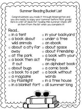 Summer Reading Bucket List {Freebie}